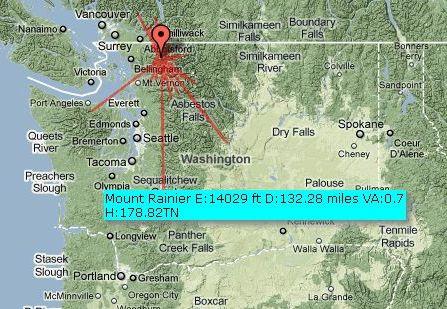 Mt Baker Washington Map